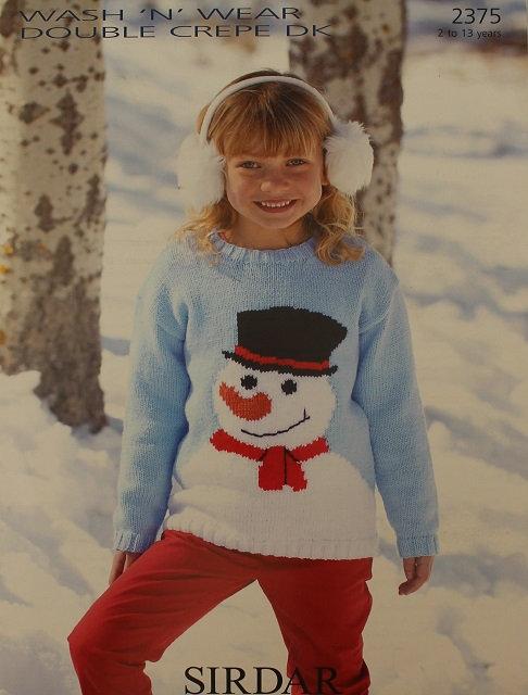 2375 Snowman Sweater in Sirdar Wash 'n' Wear DK
