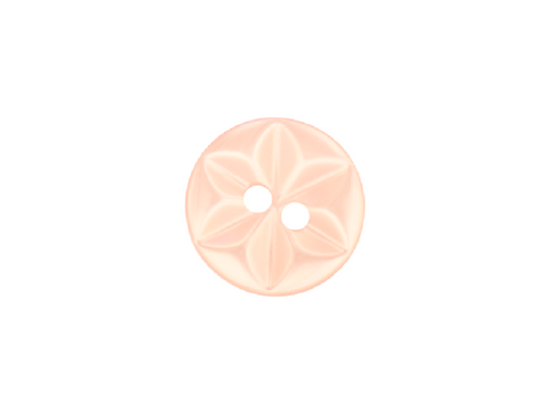 14mm Peach Star Button