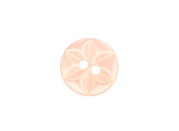 14mm Peach Star Button