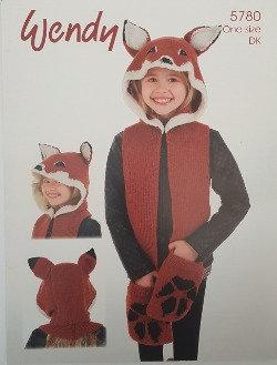 5780 Fox Scarf Hood in Wendy Merino DK