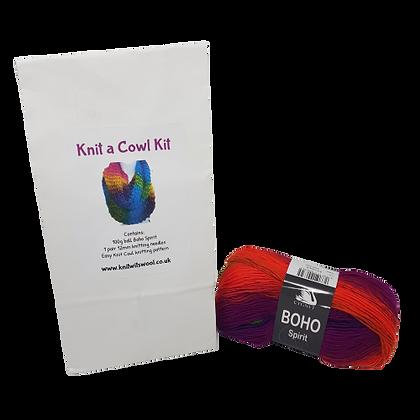 Cowl Knitting Kit in Boho Spirit Zest