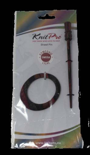 KnitPro Symfonie Wood Shawl Pin Lilac Omega