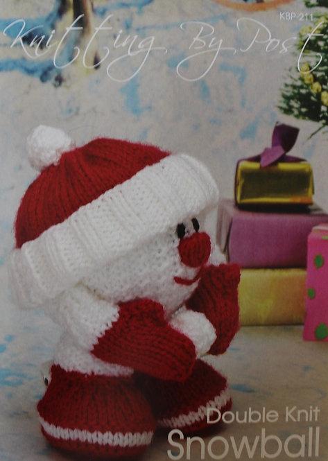 Snowball Knitting By Post Knitting Pattern KBP-211
