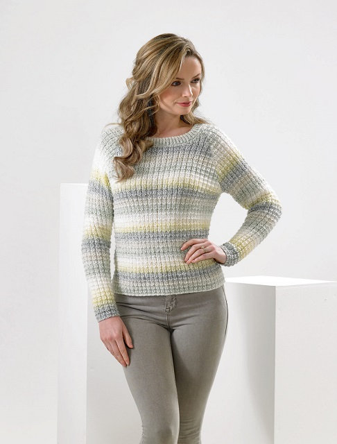 JB590 Sweater in James C Brett Marble DK