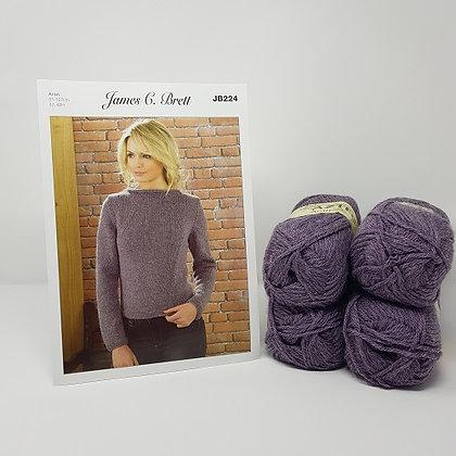 "James C Brett Aztec Aran Knitting Kit - Size 32-34"""