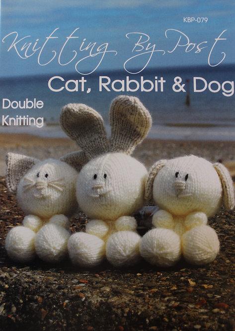Cat, Rabbit & Dog Knitting By Post Pattern KBP-079