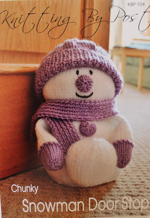 Snowman Door Stop Knitting By Post Pattern KBP-104