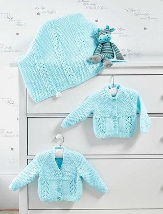 JB515 Cardigans & Blanket in James C Brett Baby DK