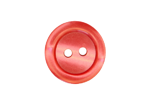 18mm Red Rim Button