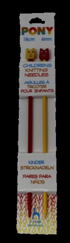 Pony 18cm Children's Knitting Needles 4mm