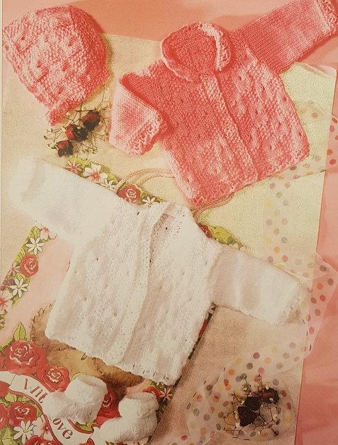 7195 Cardigans, Bonnet & Socks in DK