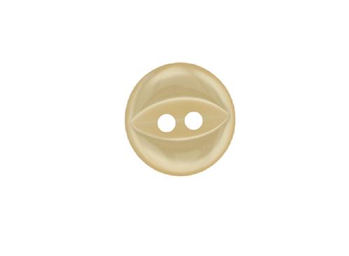 14mm Cream Fish Eye Button