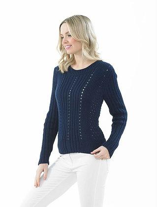 JB673 Sweater in James C Brett It's Pure Cotton DK