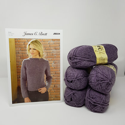 "James C Brett Aztec Aran Knitting Kit - Sizes 36-38"""""
