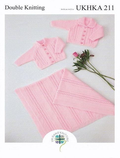 UKHKA 211 Cardigans & Blanket in DK