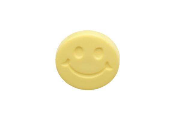 15mm Yellow Happy Face Emoji Button