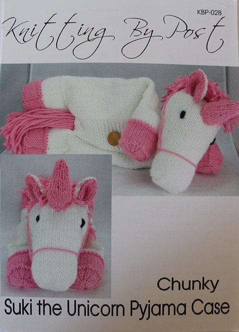 Suki the Unicorn Pyjama Case Knitting By Post Pattern KBP-028