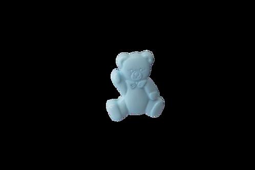 16mm Blue Teddy Bear Button
