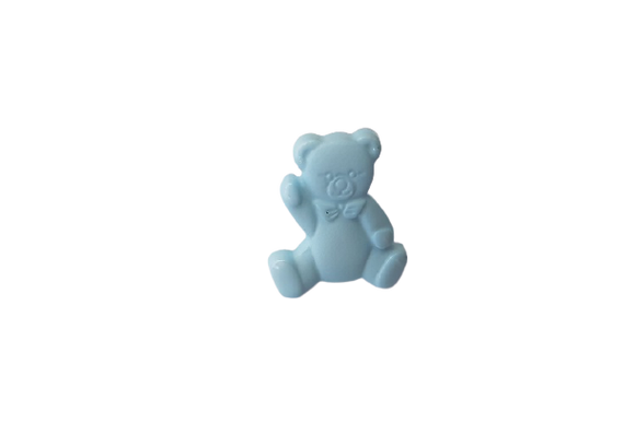 16mm Blue Teddy Bear Button