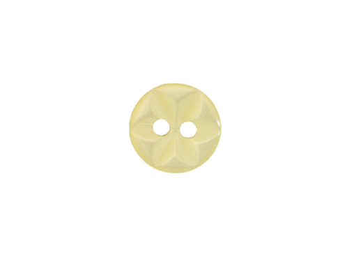 11mm Yellow Star Button