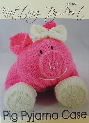 Pig Pyjama Case Knitting Pattern KBP-024