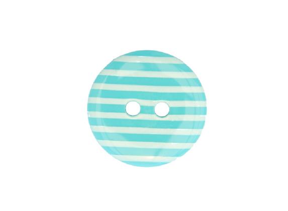 18mm Turquoise & White Stripe Button