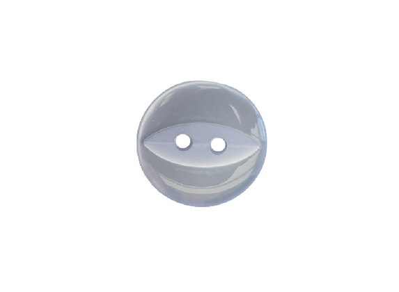 14mm Pale Blue Fish Eye Button