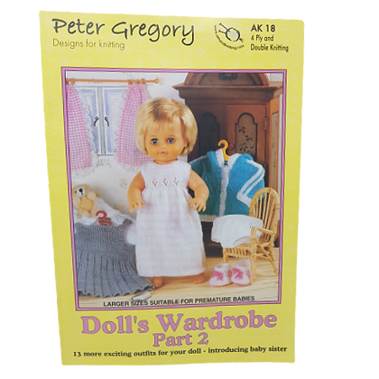 Peter Gregory Doll's Wardrobe Part 2 Knitting Book AK18