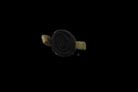 Black 15mm Satin Rose