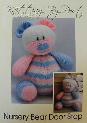Nursery Bear Door Stop Knitting Pattern