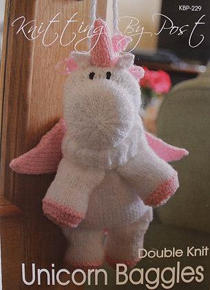 Unicorn Baggles Gift Bag Knitting Pattern KBP-229