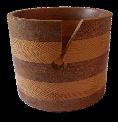Hand Made Wooden Yarn Bowl