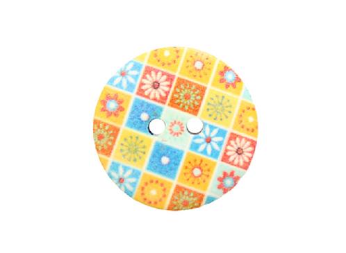 20mm Flower Patchwork Button