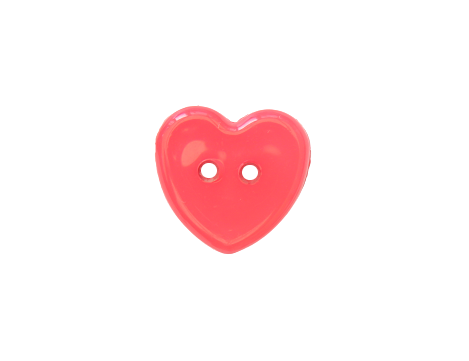 14mm Red Heart Button