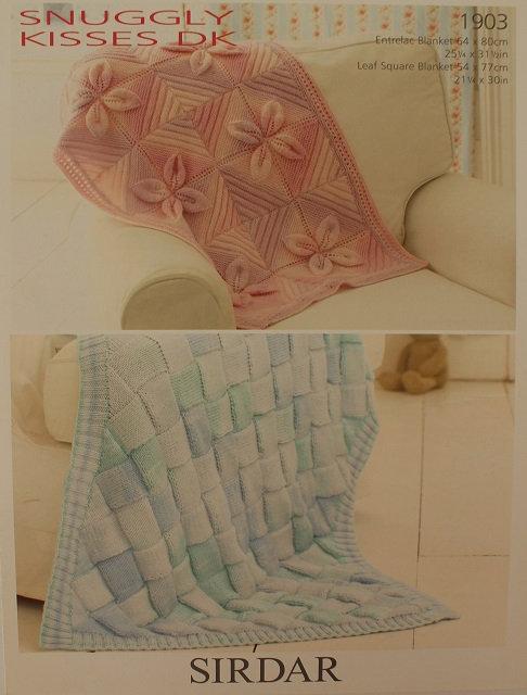 1903 Blankets in Sirdar Snuggly Kisses DK