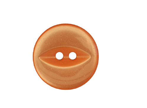 19mm Peach Fish Eye Button