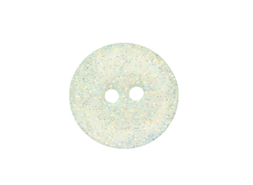 18mm Green Glitter Button