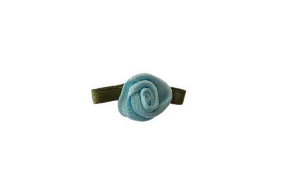 Pale Blue 15mm Satin Rose
