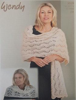 5919 Shoulder Warmer & Wrap in Wendy Celeste DK