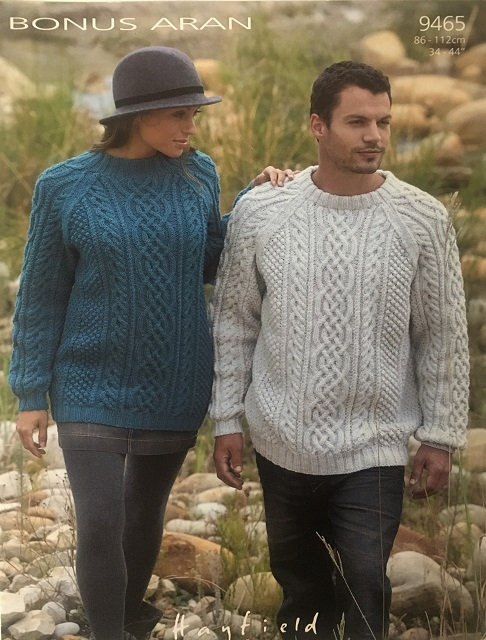 9465 Sweaters in Hayfield Bonus Aran