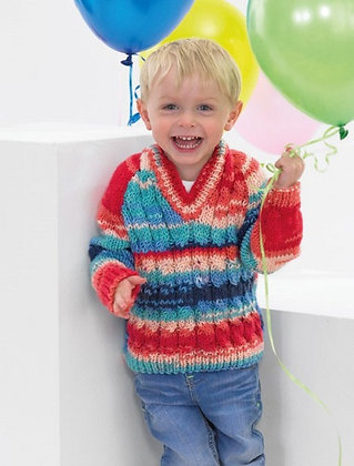 JB381 Cable Cardigan & Sweater in James C Brett Party Time Chunky