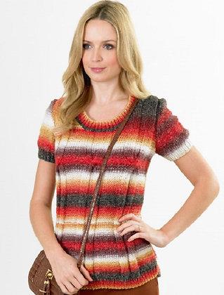 JB350 Short Sleeve Sweater in James C Brett Lakeland Chunky