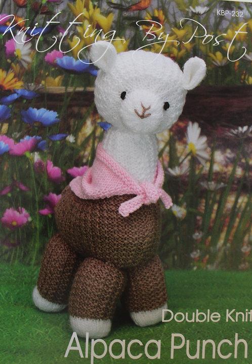 Alpaca Punch Knitting By Post Pattern KBP-232