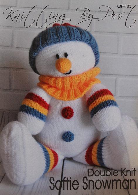 Softie Snowman Knitting By Post Pattern KBP-183