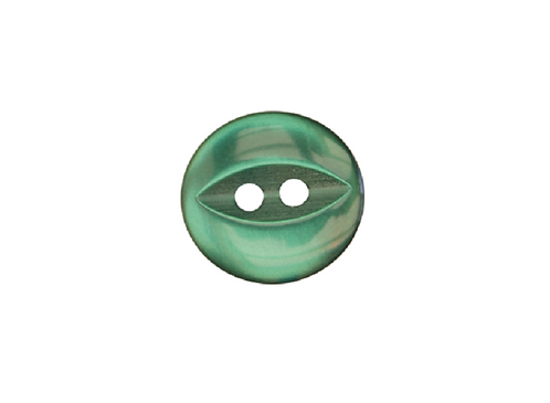 14mm Bottle Green Fish Eye Button