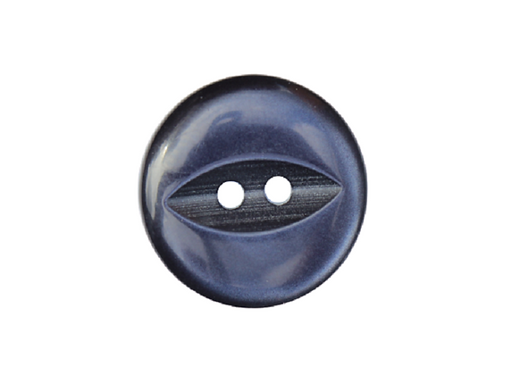 19mm Navy Blue Fish Eye Button