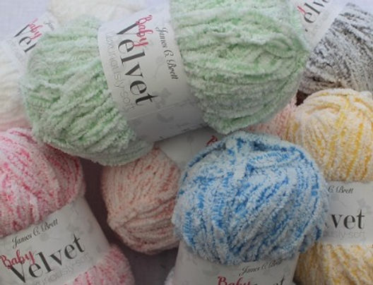 James C Brett Baby Velvet Chunky Knitting Yarn