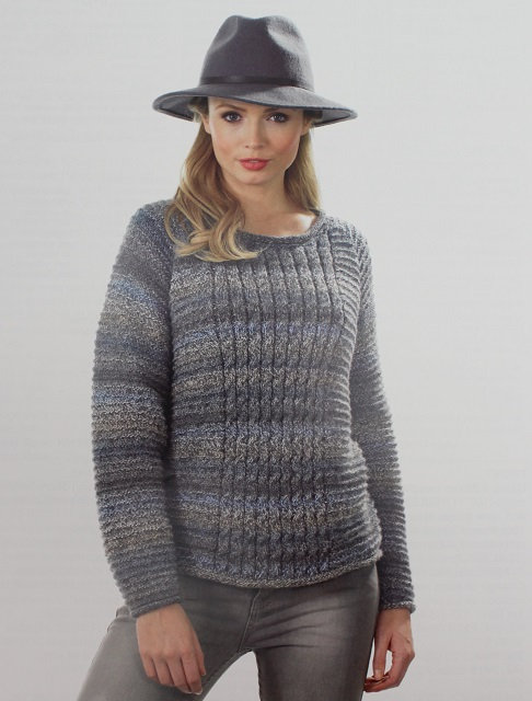 JB376 Sweater in James C Brett Marble DK