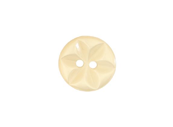 14mm Cream Star Button