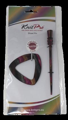 KnitPro Symfonie Wood Shawl Pin Lilac Electra